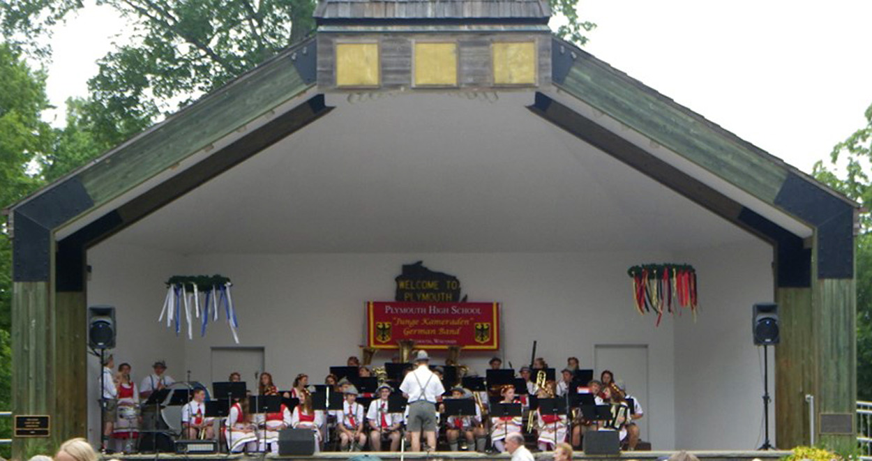 PHS German Band on City Park stage