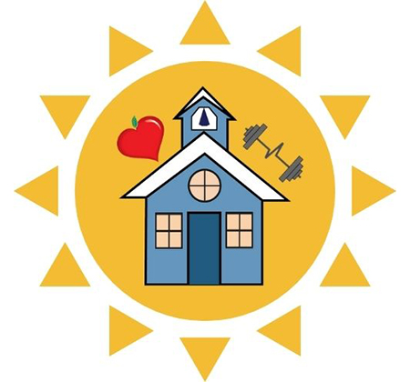 Community Ed and Rec logo on sun