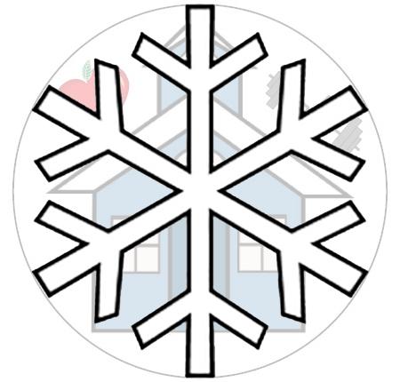 community ed and rec logo and snowflake
