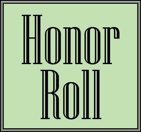 Words honor roll on green background