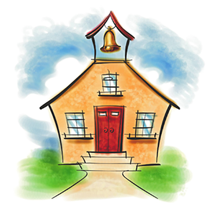 drawing of a schoolhouse