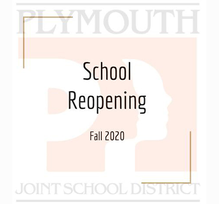 logo with words School Reopening
