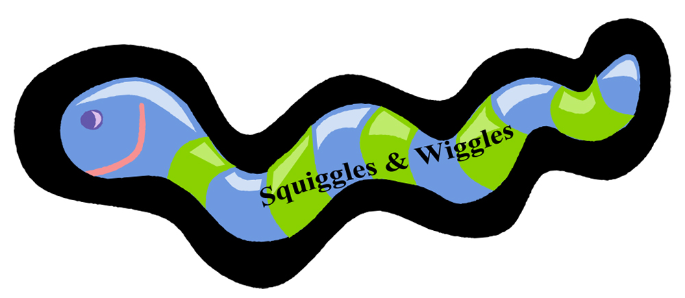 Squiggles and Wiggles worm logo