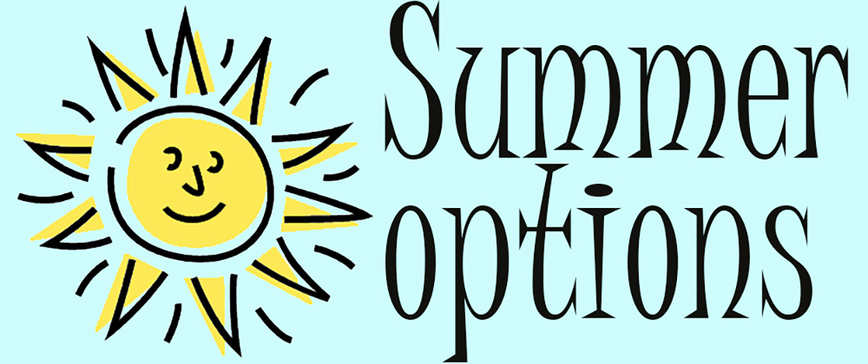 Sun with words Summer Options