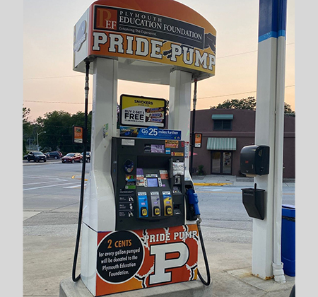 decorated gas pump